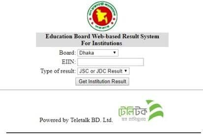 JSC RESULT BY EIIN NUMBER